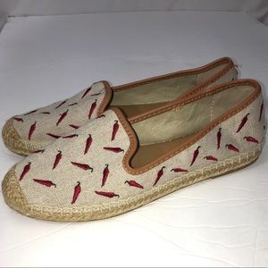 BASS chili peppers slip on flat espadrille shoes 7
